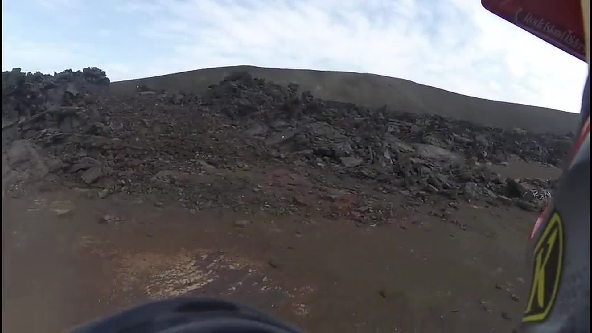 Riding around on a Lava pond