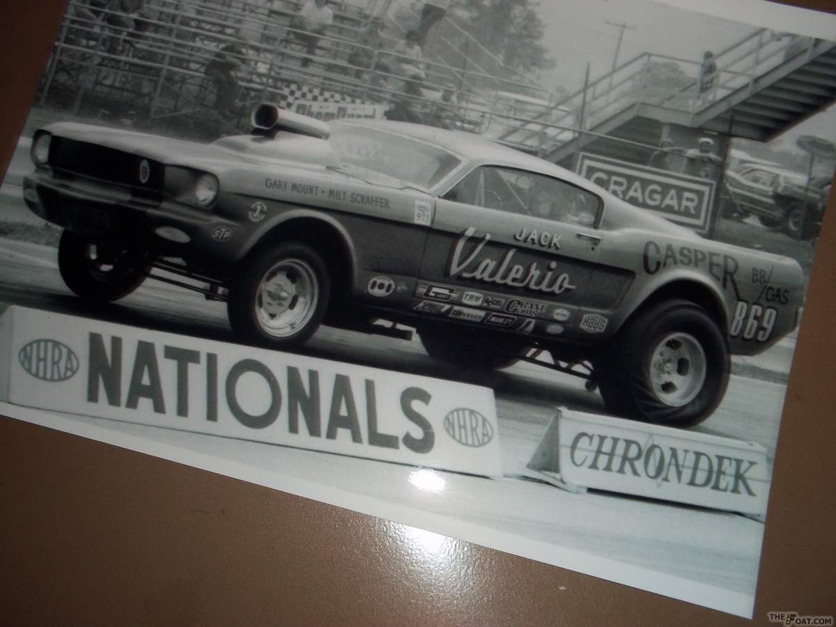 1966 FORD mustang shelby gt 350 GaSSeR VINTAGE DRAG RACE CAR