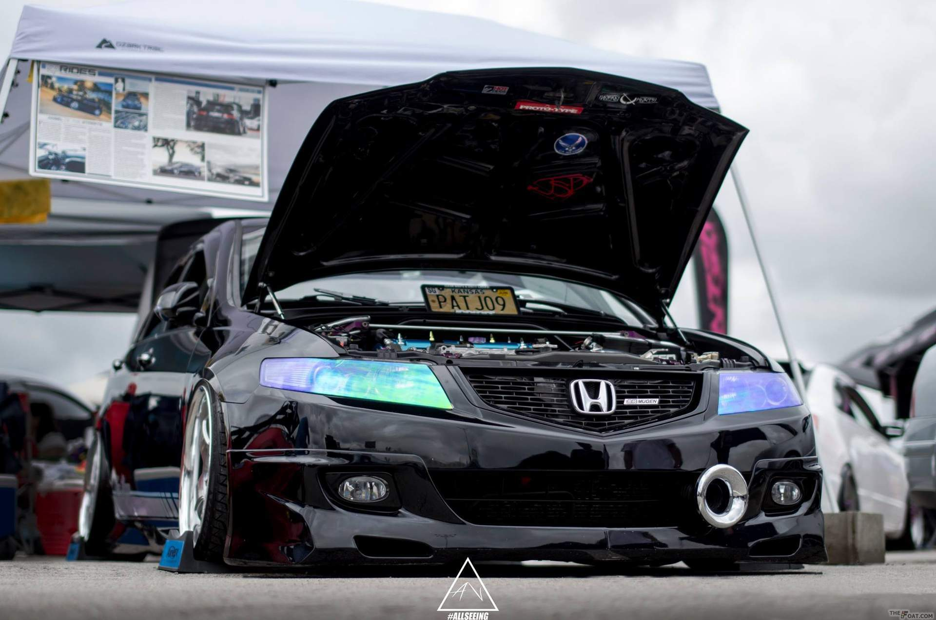 tsx custom film rtint tint headlights acura smoked headlight
